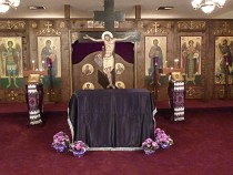 Good and Holy Friday at 3 pm. The Tomb is prepared.