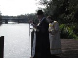 Blessing the river.